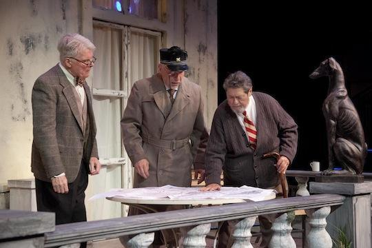 Malcolm Ingram (Phillipe), Jonathan Epstein (Gustave), Robert Lohbauer (Henri). (Photo, Kevin Sprague)