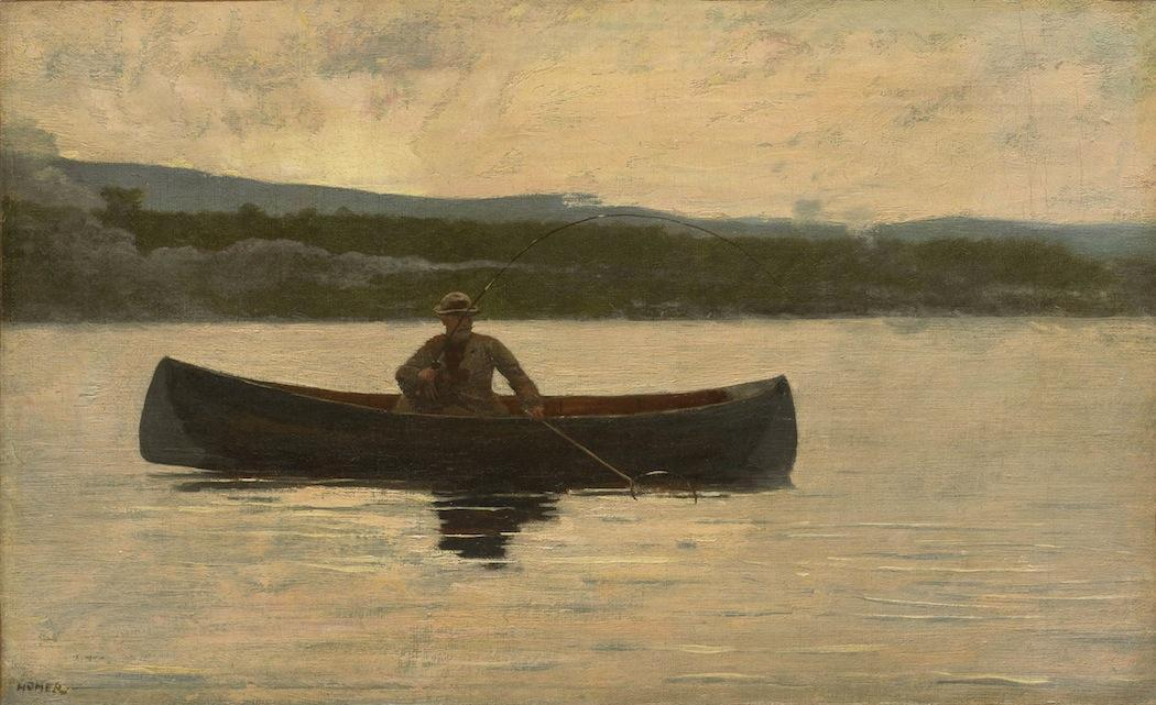 "Winslow Homer's ""Playing a Fish."" (Courtesy, Clark Art Institute)"