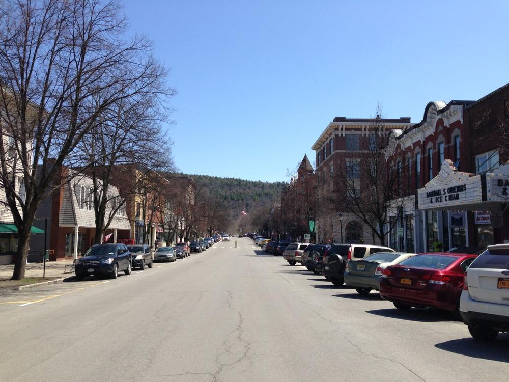 Businesses in the village of Cooperstown rely heavily on big events during the summer and the Hall of Fame induction ceremony is the biggest. (David Sommerstein)