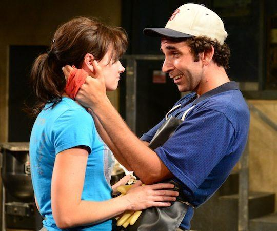 "Aimee Doherty and Thomas Phillip O'Neill in ""North Shore Fish."" (Gary Ng)"