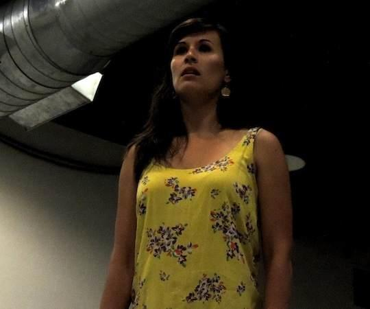 "Ashley Korolewski rehearses for Bad Habit's production of ""Rooms"" at the Calderwood Pavilion. (Kevin Hadfield/Bad Habit Productions)"