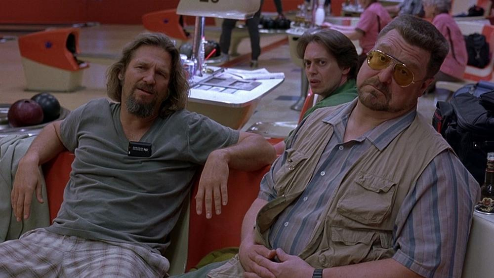 """Actors Jeff Bridges, John Goodman and Steve Buscemi are pictured in a scene from """"The Big Lebowski."""" (Working Title Films)"""