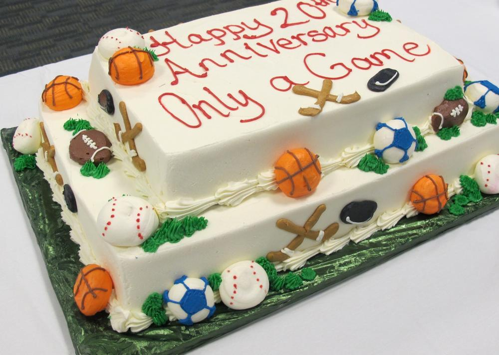 Only A Game's 20th anniversary cake. Yum!