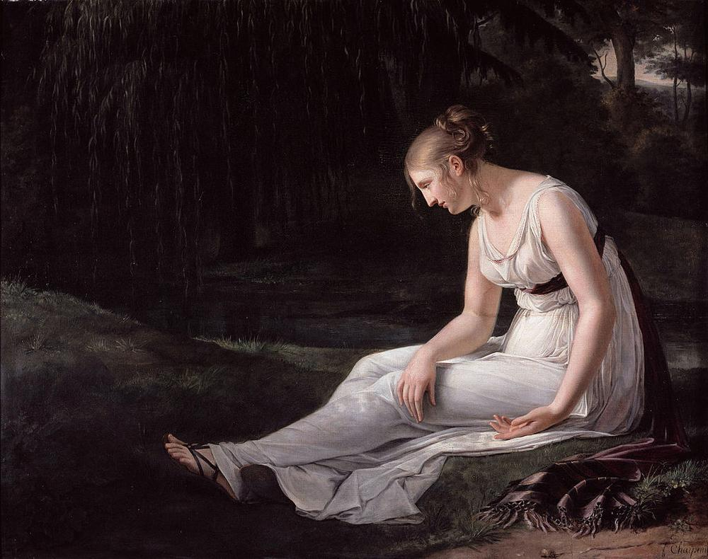 """""""Melancholy,"""" an 1801 painting by Constance Marie Charpentier (Wikimedia Commons)"""