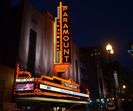 The renovated Paramount Center is part of the Boston and Emerson College's revitalization of the city's historic theater district on Washington Street. (Michael Kappel/Flickr)
