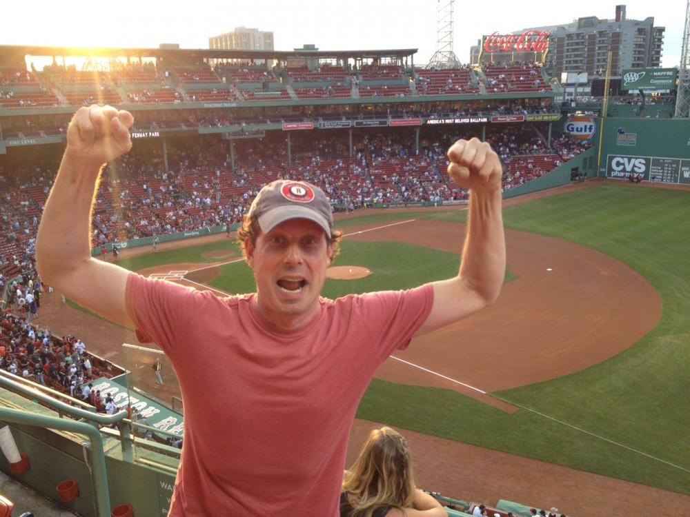 The author pictured at Fenway Park, Sunday, July 21. (Courtesy)