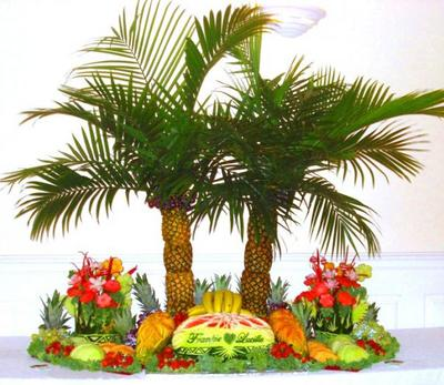 Arroco turned pineapples into palm trees. (Courtesy of Ruben Arroco)