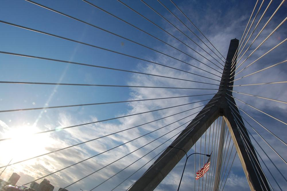 The Leonard P. Zakim Bunker Hill Memorial Bridge. (Greg Cook)