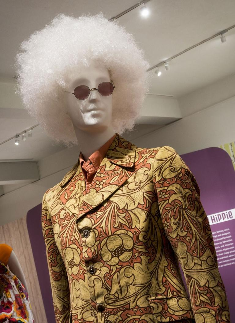 Rock bassist Noel Redding of the Jimi Hendrix Experience was one of the celebrity clients of the London boutique Granny Takes a Trip, for which John Pearse designed this circa 1967 cotton man's jacket printed with an 1892 William Morris Arts and Crafts pattern. (Courtesy of the Museum of Fine Arts, Boston)