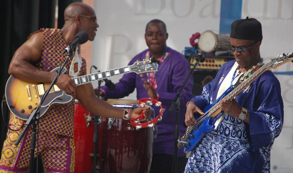 The West African Highlife Band plays. (Greg Cook)