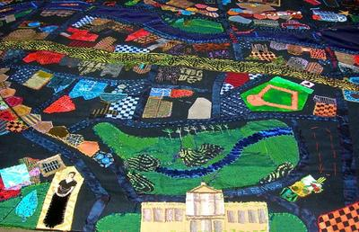 The Gardner Museum, the Museum of Fine Arts and Fenway Park are among the landmarks depicted on the quilt. (Courtesy photo)