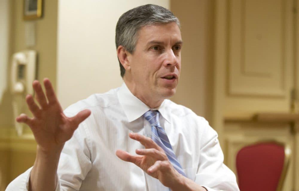Education Secretary Arne Duncan is pictured in Washington, Jan. 17, 2013. (Manuel Balce Ceneta/AP)