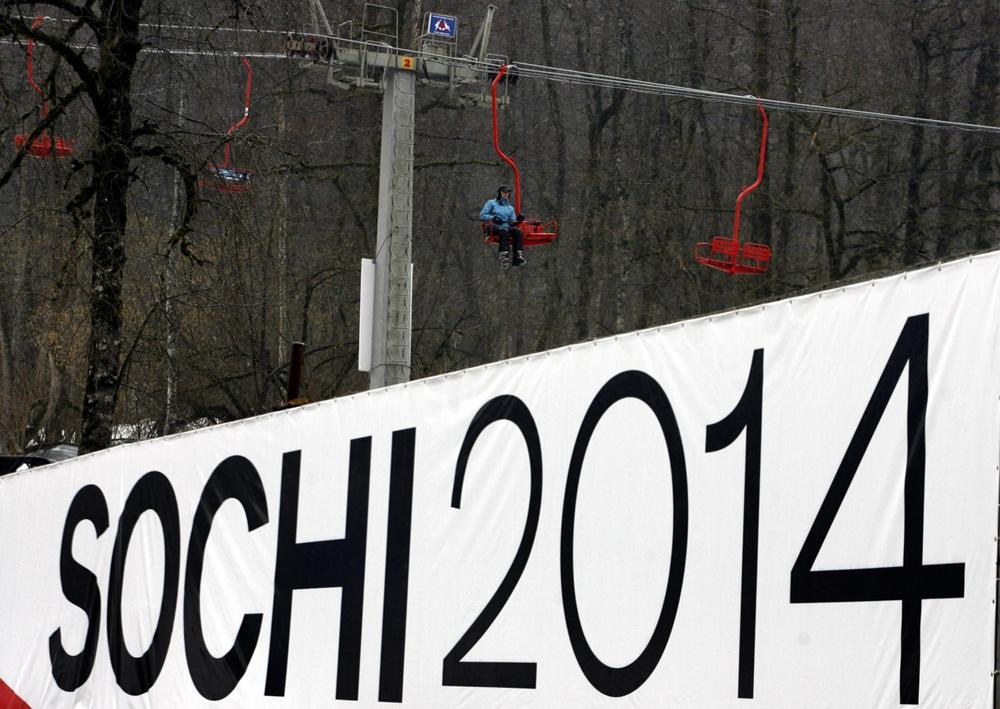 The 2014 Winter Games in Sochi, Russia have been getting attention this summer because of an anti-gay stance taken by the Russian government. (Mikhail Metzel/AP)