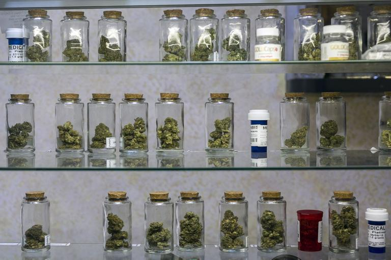 The state Department of Public Health has made preliminary applications available for medical marijuana dispensaries. (Damian Dovarganes/AP)