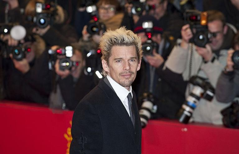 """Ethan Hawke at the premiere of the film """"Before Midnight,"""" at the 63rd annual Berlin Film Festival in February 2013 (Siebbi/commons.wikimedia.org)"""