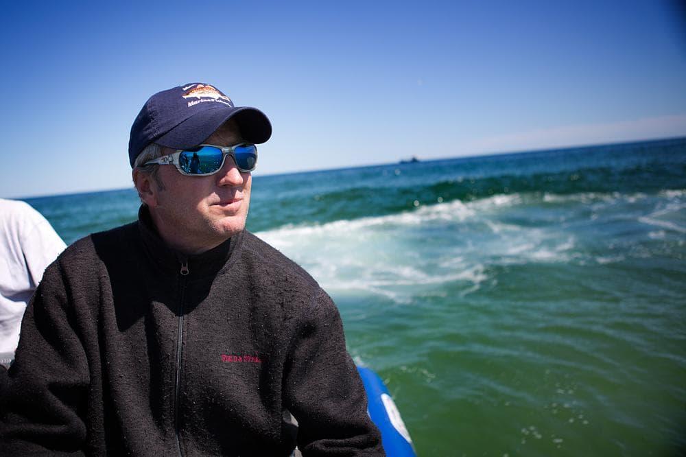 Greg Skomal, senior marine fisheries biologist for the Massachusetts Division of Marine Fisheries. (Jesse Costa/WBUR)