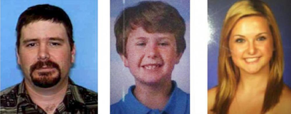 This composite photo provided by the San Diego Sheriff's Department shows: James Lee Dimaggio, 40, left, Ethan Anderson, 8, and Hannah Anderson, 16. (San Diego Sheriff's Department via AP)