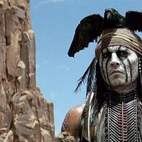 """Johnny Depp is pictured in an scene from the movie """"The Lone Ranger."""" (Disney)"""