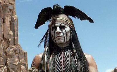"Johnny Depp is pictured in an scene from the movie ""The Lone Ranger."" (Disney)"