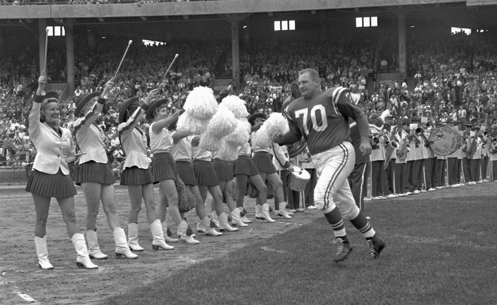 During his NFL career, Art Donovan was a five-time Pro Bowl selection and a two-time NFL champion. (AP)