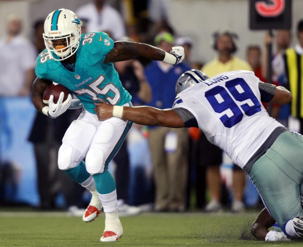 When Mike Gillislee and the Miami Dolphins faced Jerome Long and the Dallas Cowboys on Aug. 4 it marked the start of the NFL preseason. (Scott R. Galvin/AP)