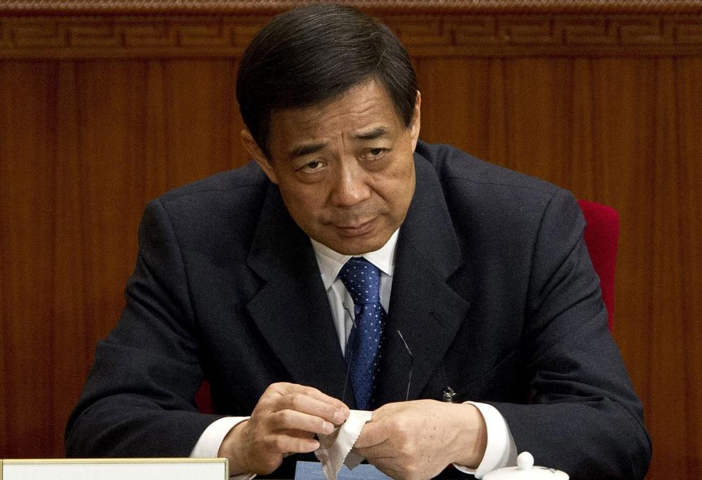 Then Chongqing party secretary Bo Xilai attends a plenary session of the National People's Congress at the Great Hall of the People in Beijing, March 11, 2012. (Andy Wong/AP)