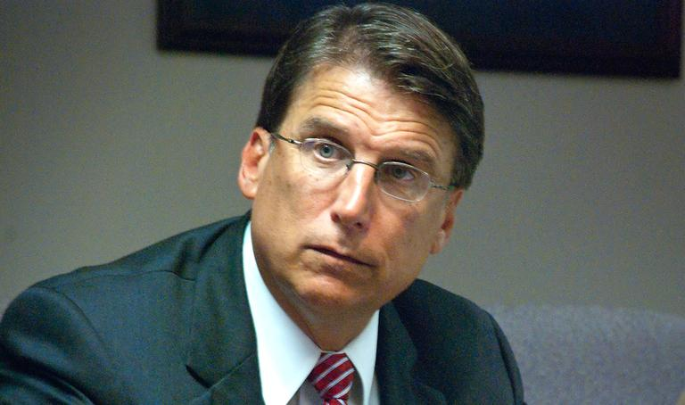 Pat McCrory is pictured in July 2012, during his campaign for governor of North Carolina. (Hal Goodtree/Flickr)