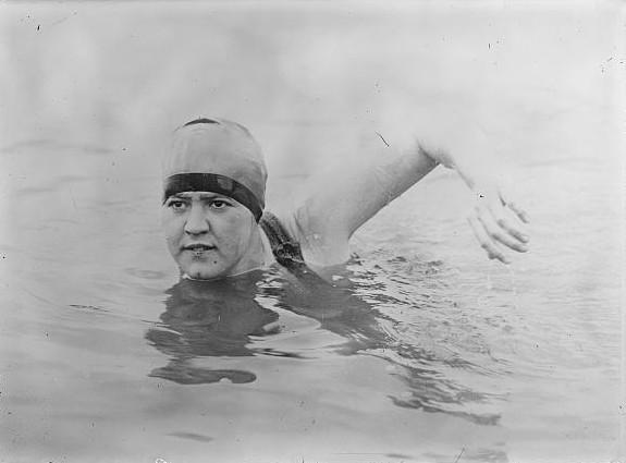 Gertrude Ederle became the first woman to swim across the English Channel on August 16, 1926. (commons.wikipedia.com)