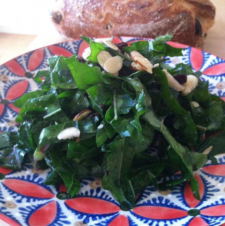 Kathy Gunst's Kale Salad. (Jesse Costa/Here & Now)