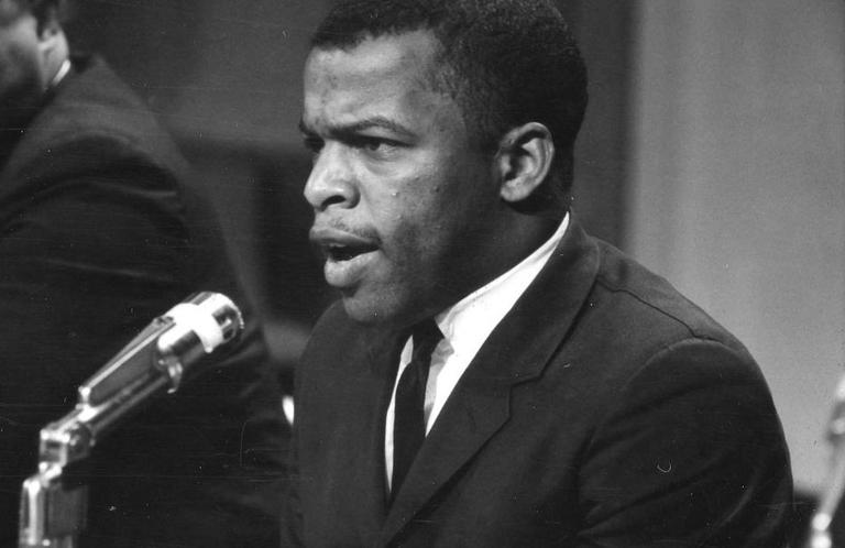 John Lewis is pictured April 14, 1964. (Marion Trikosko)