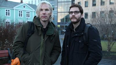 "Among the films based on the Wikileaks saga is ""The Fifth Estate,"" starring Benedict Cumberbatch as Julian Assange and Daniel Bruhl as Daniel Domscheit-Berg. (DreamWorks)"
