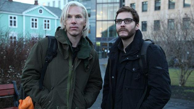 """Among the films based on the Wikileaks saga is """"The Fifth Estate,"""" starring Benedict Cumberbatch as Julian Assange and Daniel Bruhl as Daniel Domscheit-Berg. (DreamWorks)"""