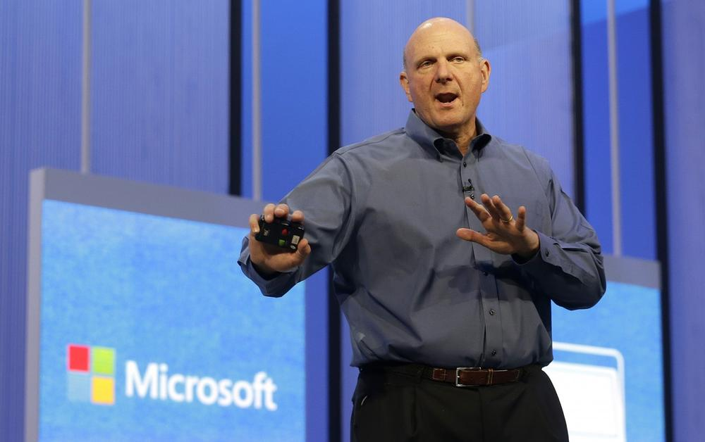 Microsoft CEO Steve Ballmer, pictured at a Microsoft event in San Francisco, on June 26, 2013, will retire within the next 12 months. (Jeff Chiu/AP)
