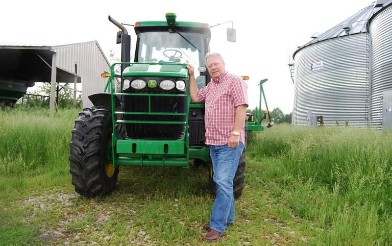 Jim Schulte and his wife, Rita, bought their 450-acre farm near Columbia, Mo., in 1991, but didn't start farming full time until Jim finished working in the mortgage business. (Abbie Fentress Swanson/Harvest Public Media)