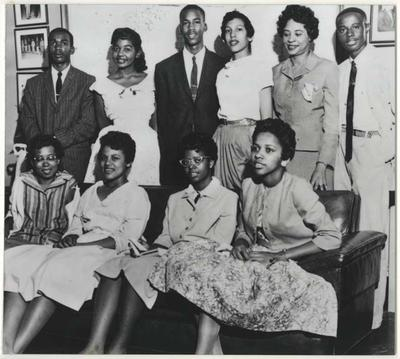 The members of the Little Rock Nine. (Library of Congress)