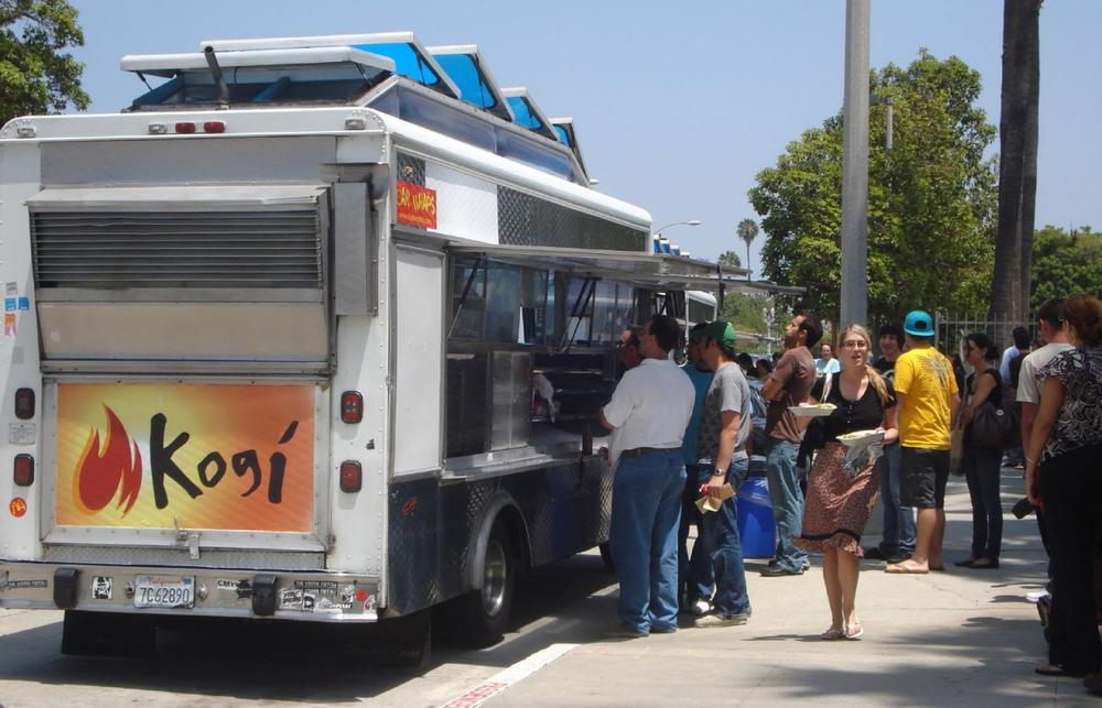 The Kogi taco truck in Los Angeles. (fillingthev0id/Flickr)