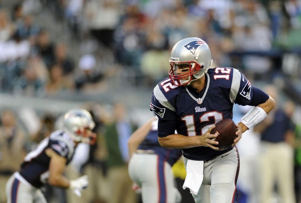 Tom Brady is seen during a preseason NFL game against the Philadelphia Eagles, Friday. (Michael Perez/AP)