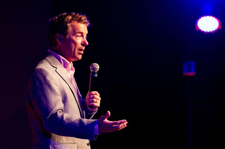 Republican U.S. Sen. Rand Paul of Kentucky speaks at a fundraiser for state Sen. Jack Johnson in Franklin, Tenn., on Sunday, July 28, 2013. (AP)