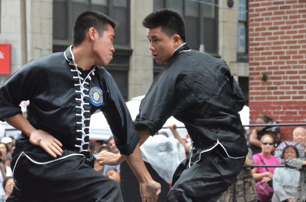 Martial arts at August Moon festival. (Chris Devers)