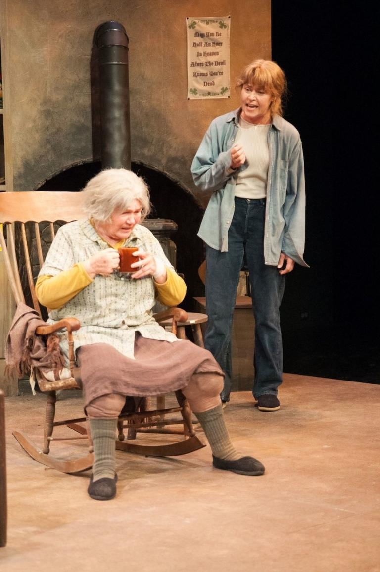 "Tina Packer and Elizabeth Aspenlieder in  ""The Beauty Queen of Leenane."". (Enrico Spada/Shakespeare  & Company)"