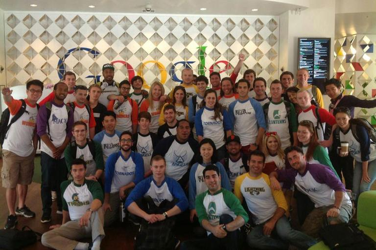 Draper University students at Google HQ (Draper University).
