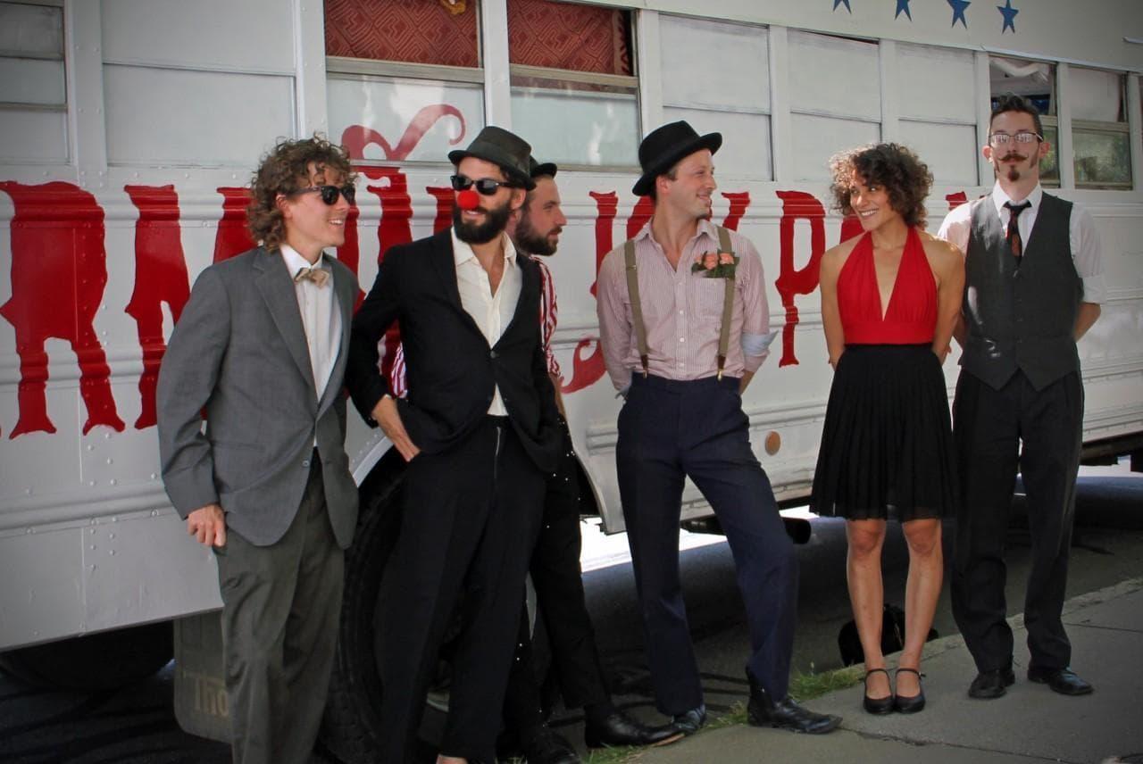 Vermont Joy Parade outside the WBUR studios in Boston on Aug. 20, 2013. (Amory Sivertson/WBUR)