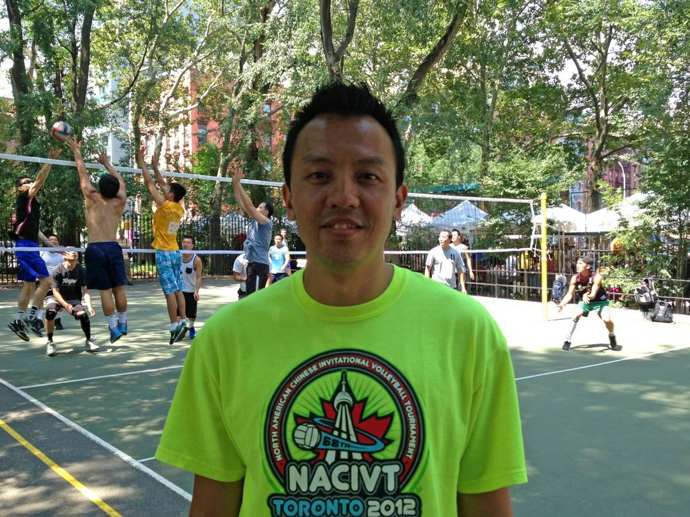 The New York Strangers' home court is in Manhattan's Seward Park. This weekend, the Strangers and team president Danny Moy are in Washington, D.C. for a national nine-man volleyball tournament. (Christine Laskowski/Only A Game)