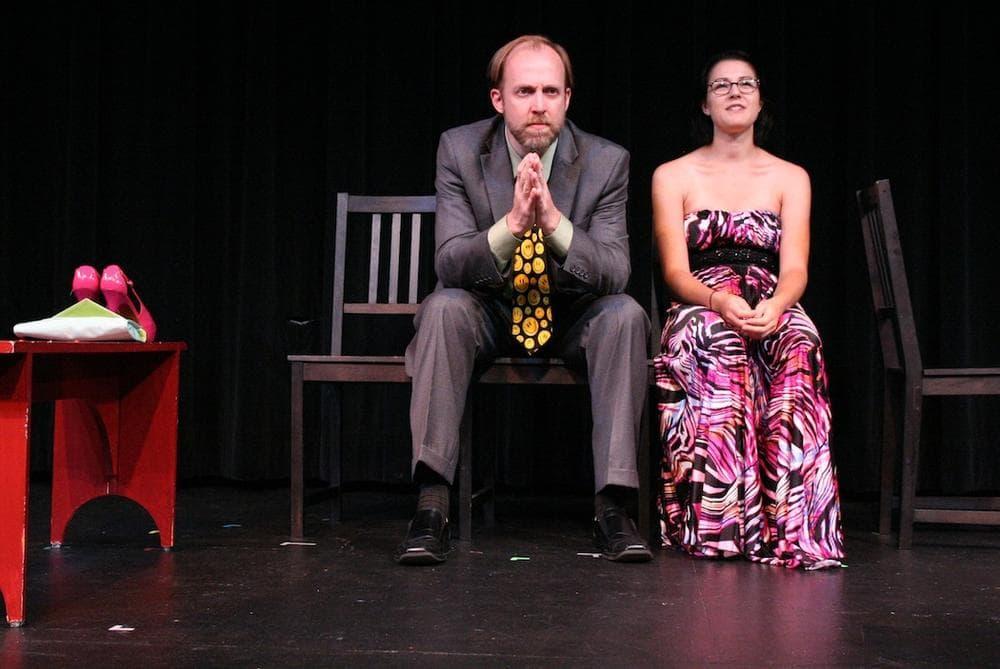 "Stephanie Yackovestsky and Bob Mussett in ""Retriever."" (Meg Taintor)"