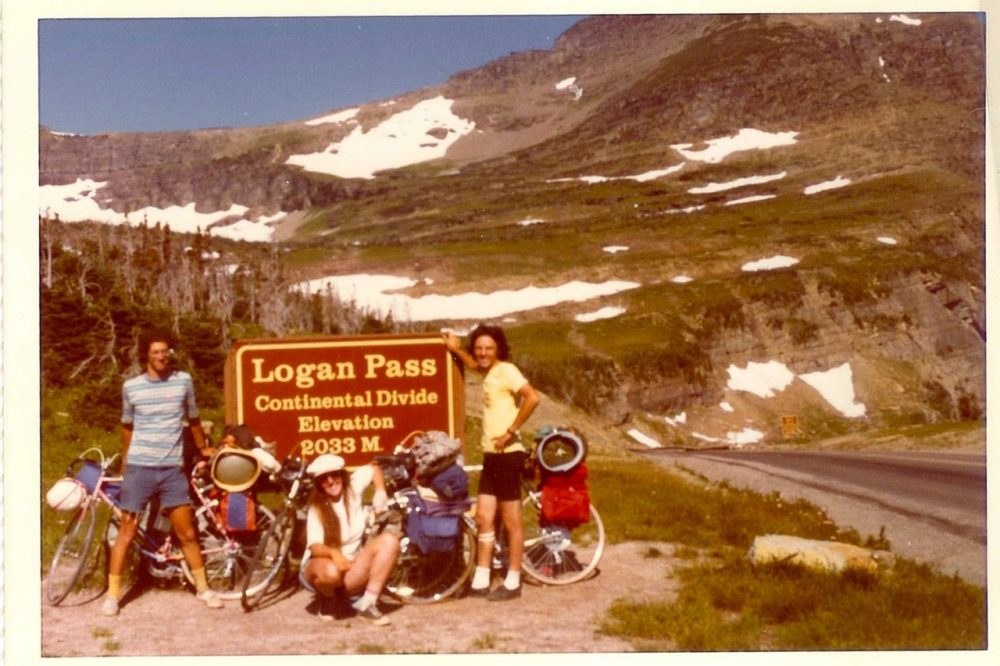 The author, at left, with his companions roughly a week after the Cascades climb, at Logan Pass in Glacier National Park, after a 3-4 hour climb.  (Courtesy)
