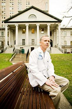Dr. Michael V. Callahan at Mass. General Hospital (Photo: Joseph Ferraro, MGH)