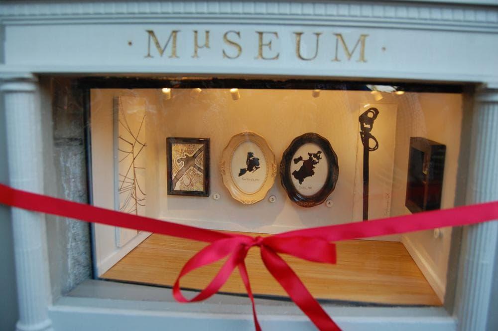 """The Mµseum—or """"Micro Museum."""" (Greg Cook/WBUR)"""