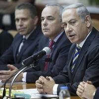 Israeli Prime Minister Benjamin Netanyahu, second right, chairs the weekly cabinet meeting in Jerusalem, Israel, Sunday, September 1, 2013. (Abir Sultan/AP)