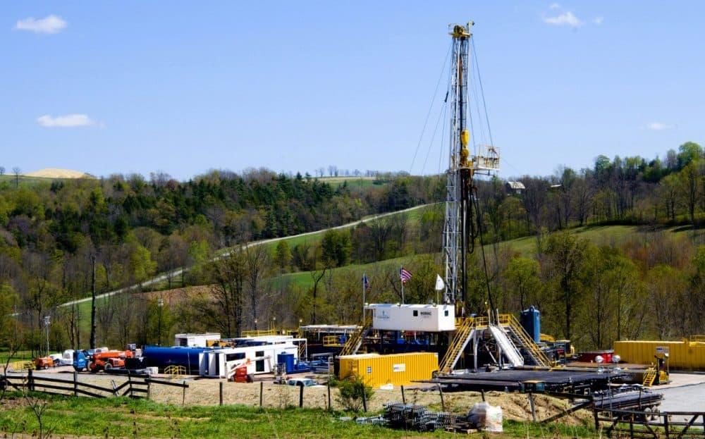 A Chesapeake Energy natural gas well site is seen near Burlington, Pa., April 23, 2010. (Ralph Wilson/AP)