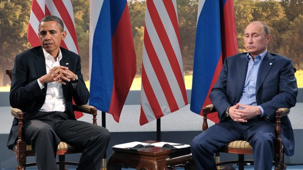 President Barack Obama meets with Russian President Vladimir Putin in Enniskillen, Northern Ireland, Monday, June 17, 2013. (Evan Vucci/AP)